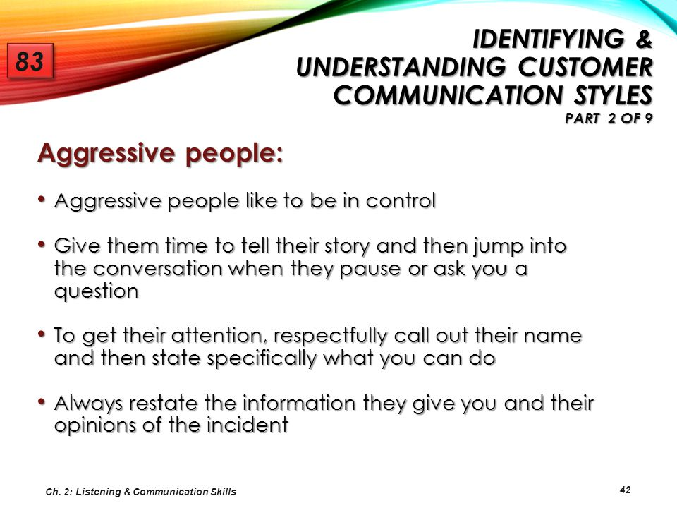 Identifying & Understanding Customer Communication Styles Part 2 of 9