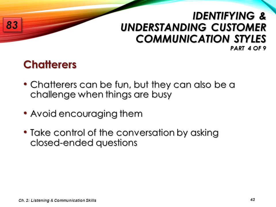 Identifying & Understanding Customer Communication Styles Part 4 of 9