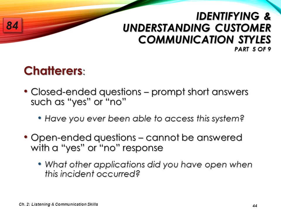 Identifying & Understanding Customer Communication Styles Part 5 of 9