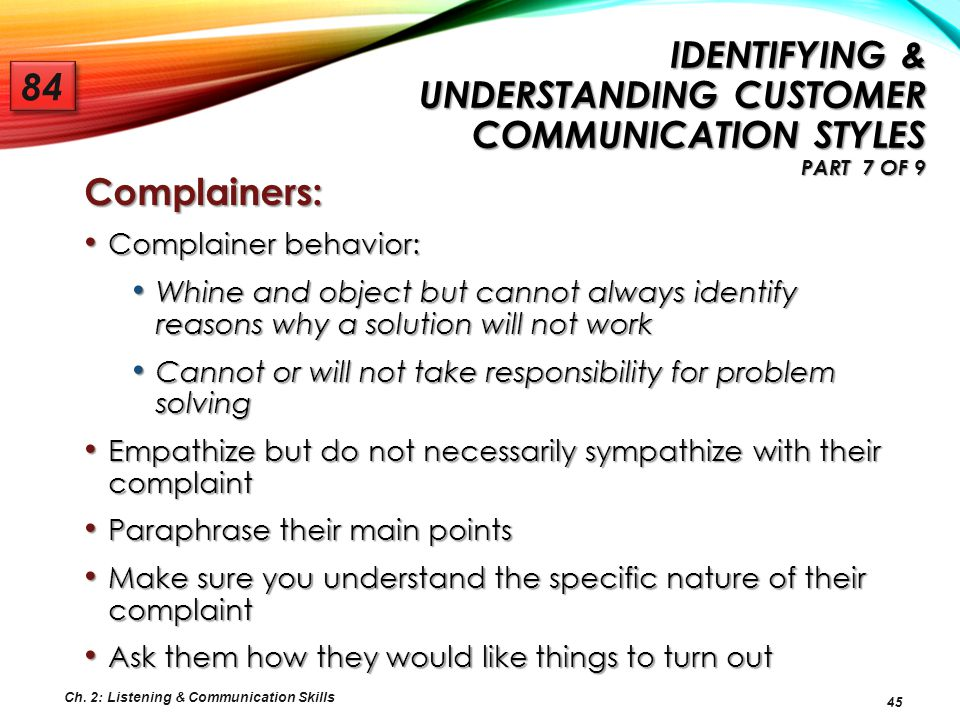 Identifying & Understanding Customer Communication Styles Part 7 of 9