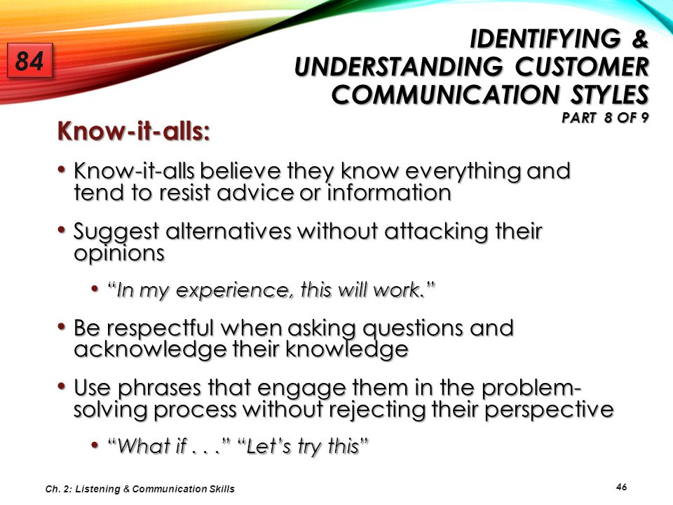 Identifying & Understanding Customer Communication Styles Part 8 of 9