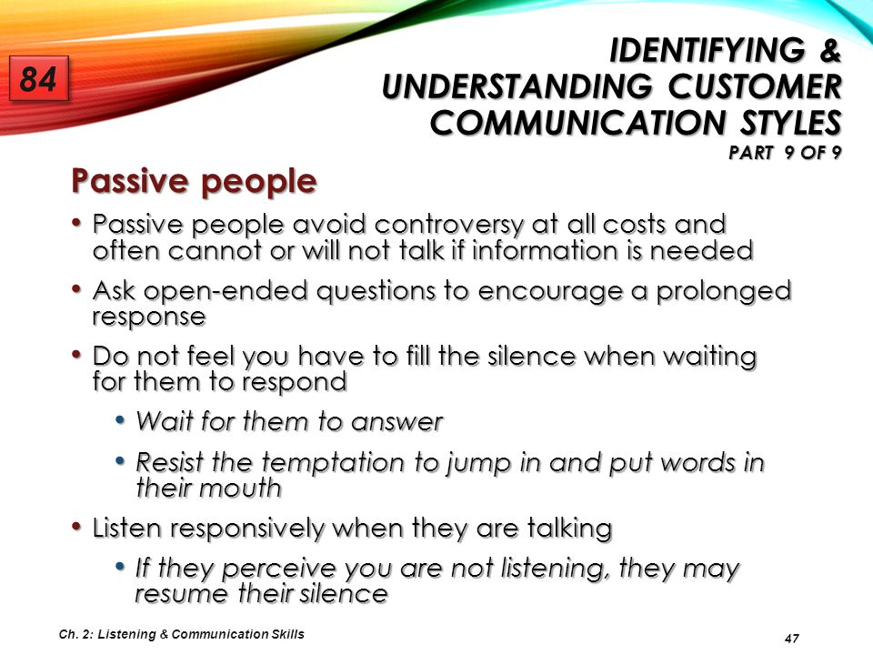 Identifying & Understanding Customer Communication Styles Part 9 of 9