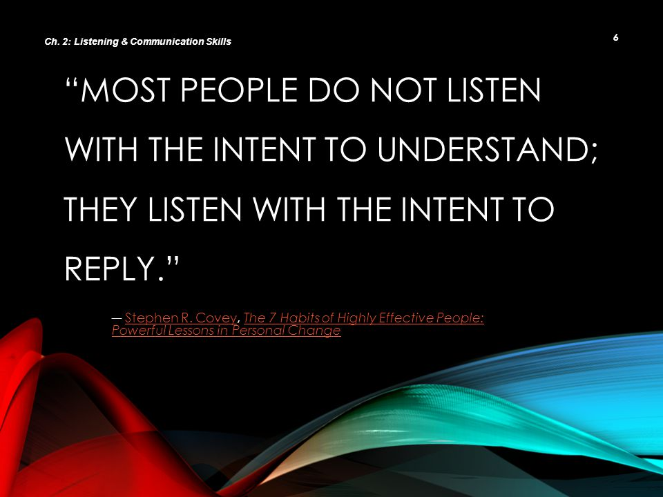 Ch. 2: Listening & Communication Skills