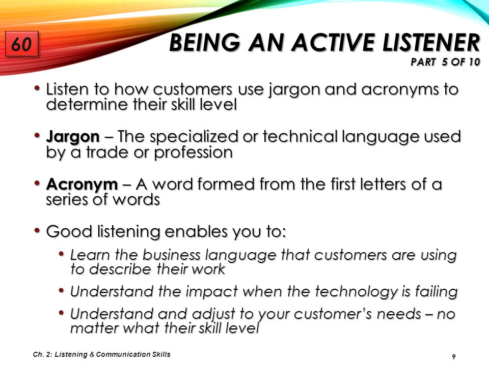 Being an Active Listener Part 5 of 10
