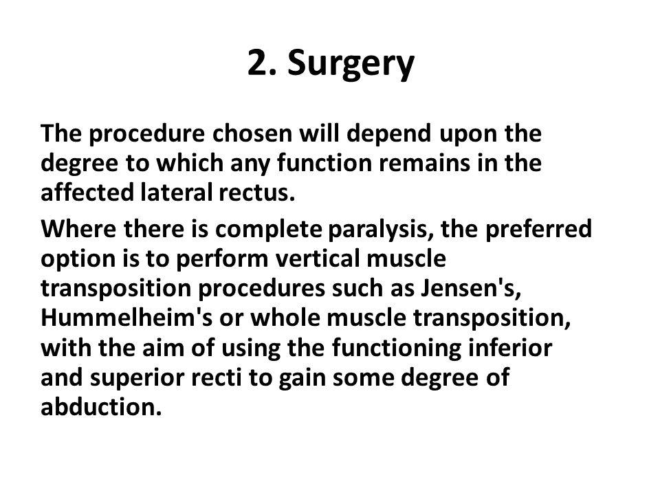 2. Surgery