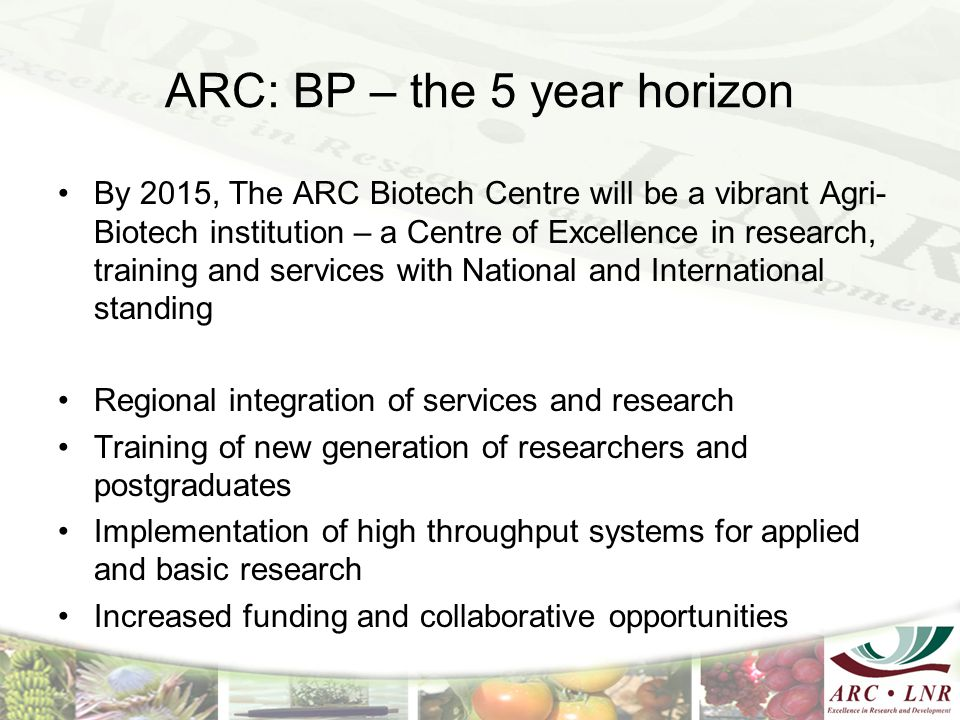 ARC: BP – the 5 year horizon