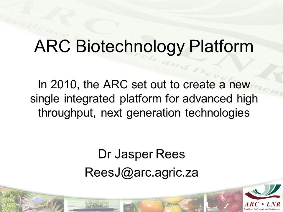 Dr Jasper Rees ReesJ@arc.agric.za