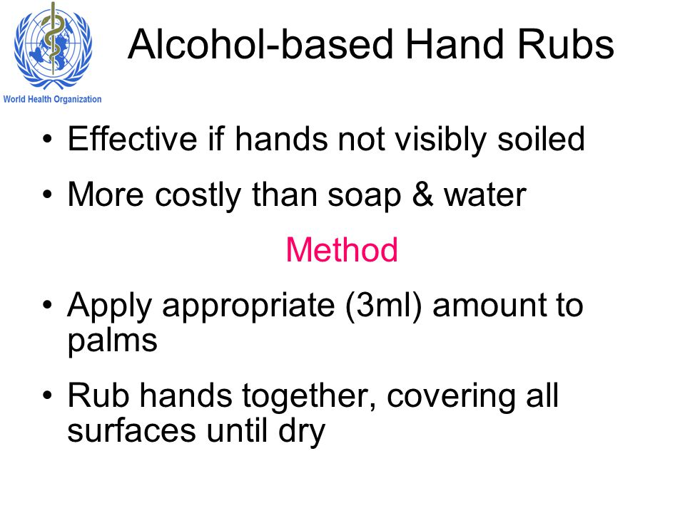 Alcohol-based Hand Rubs