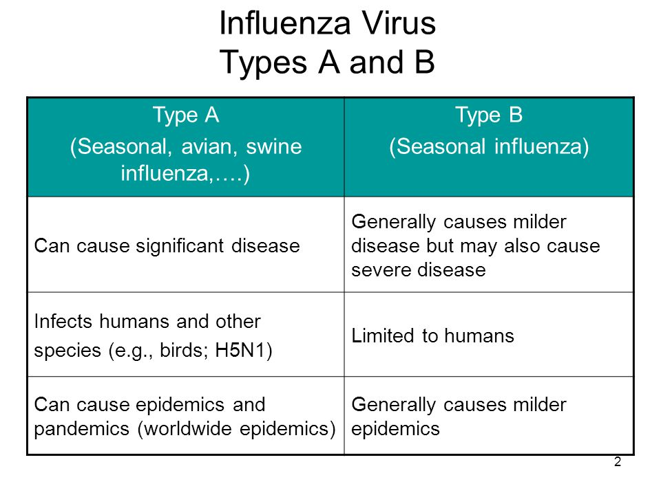 Influenza Virus Types A and B