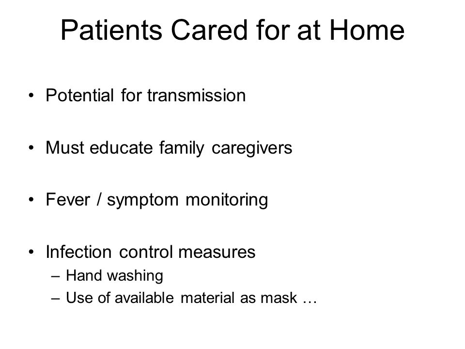 Patients Cared for at Home