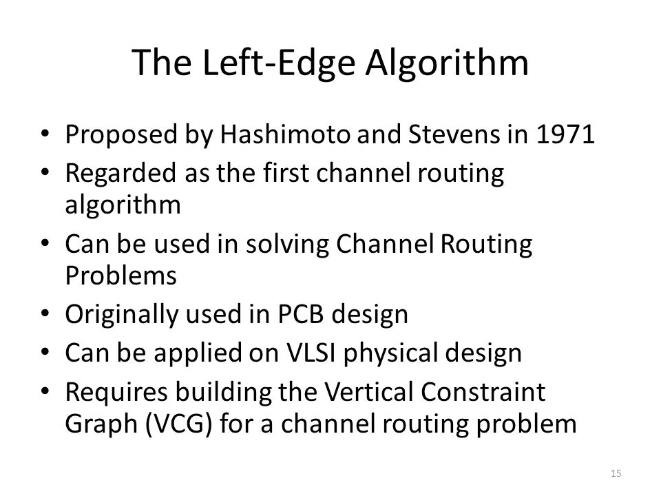 The Left-Edge Algorithm