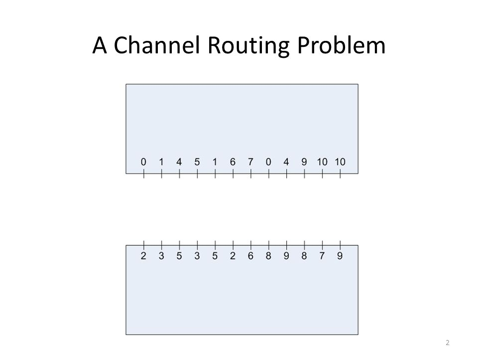 A Channel Routing Problem