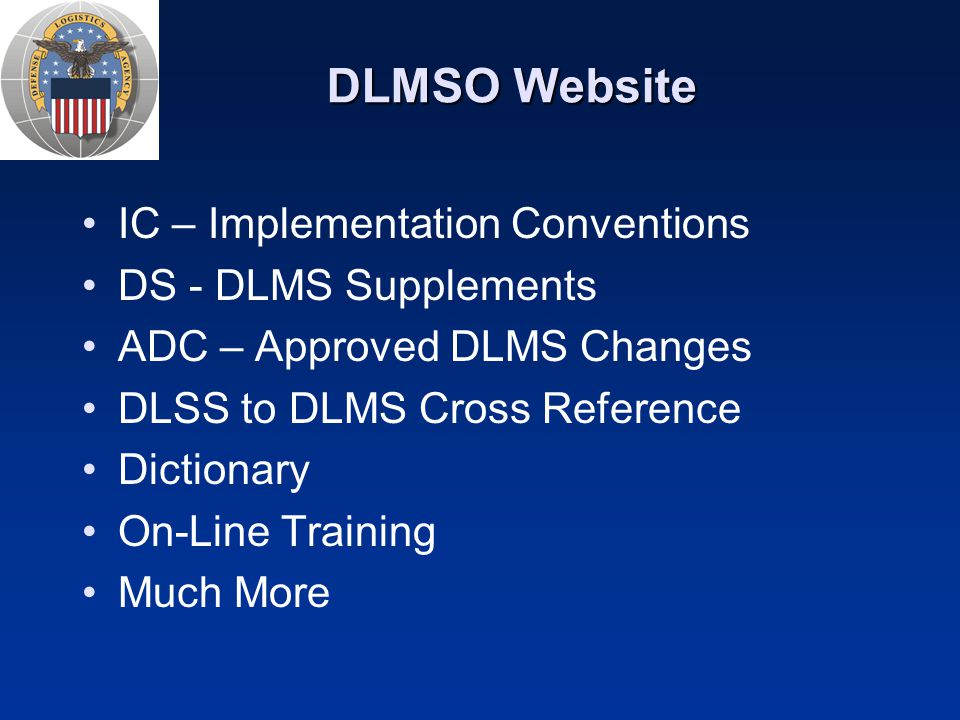 DLMSO Website IC – Implementation Conventions DS - DLMS Supplements