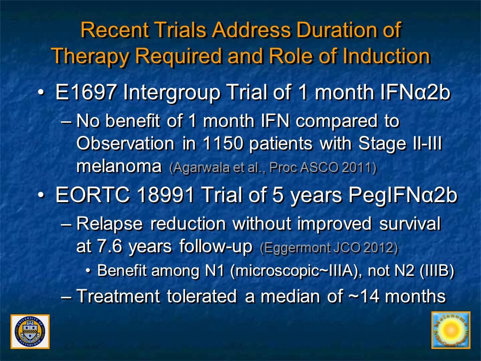 E1697 Intergroup Trial of 1 month IFNα2b
