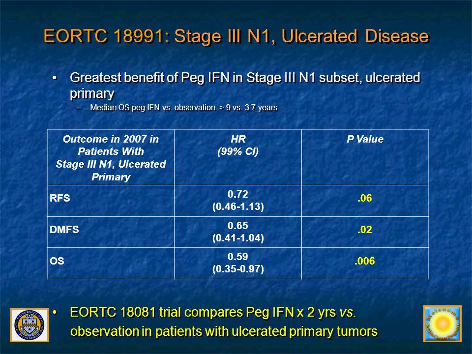 EORTC 18991: Stage III N1, Ulcerated Disease