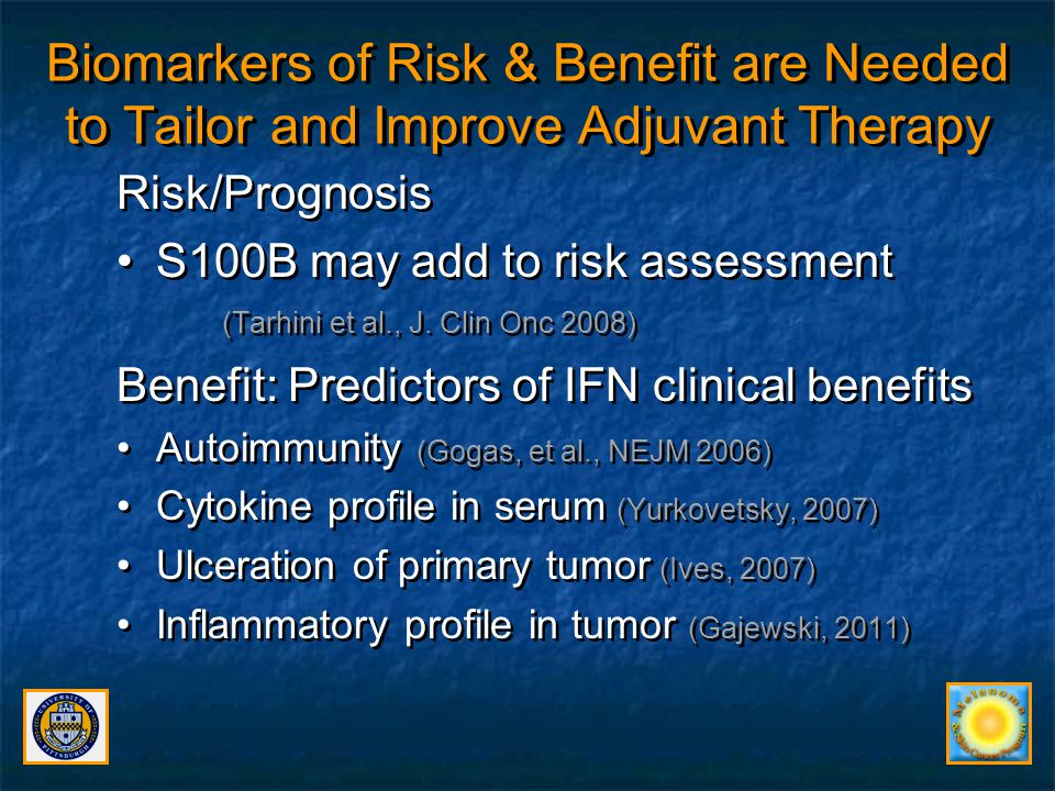 Biomarkers of Risk & Benefit are Needed to Tailor and Improve Adjuvant Therapy