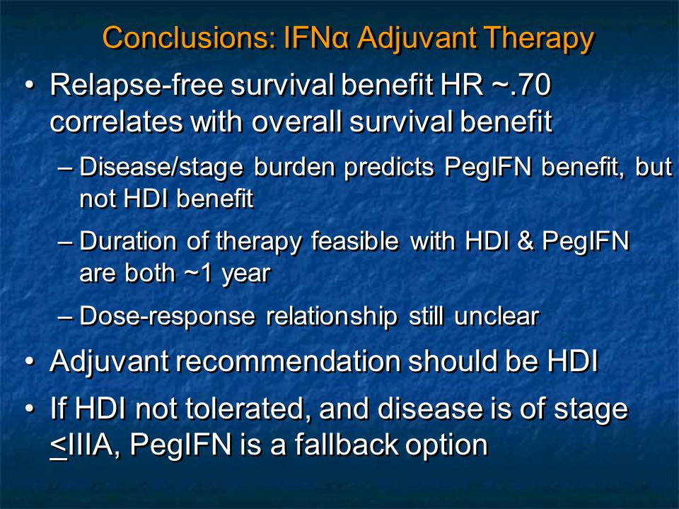 Conclusions: IFNα Adjuvant Therapy
