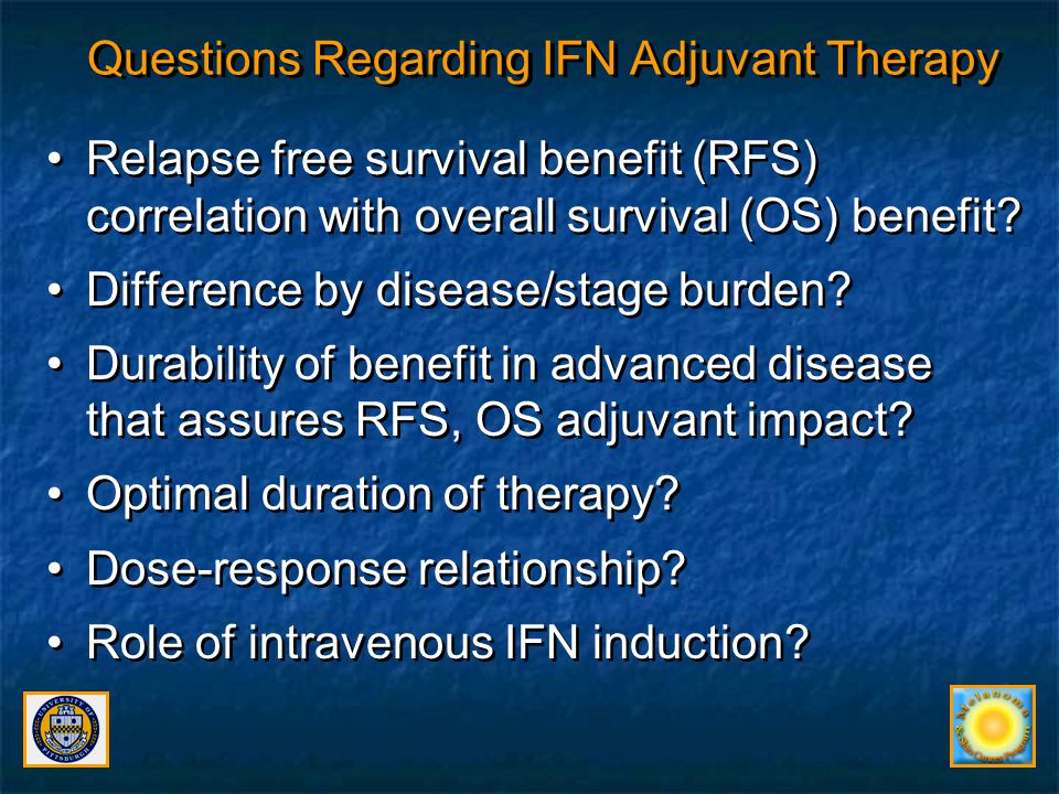 Questions Regarding IFN Adjuvant Therapy