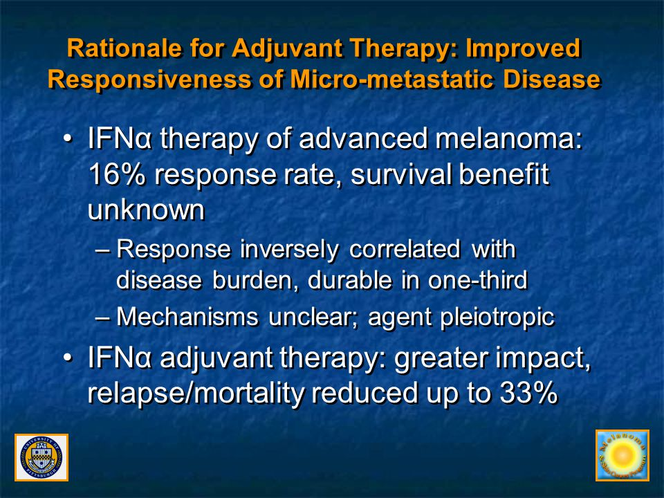 Rationale for Adjuvant Therapy: Improved Responsiveness of Micro-metastatic Disease