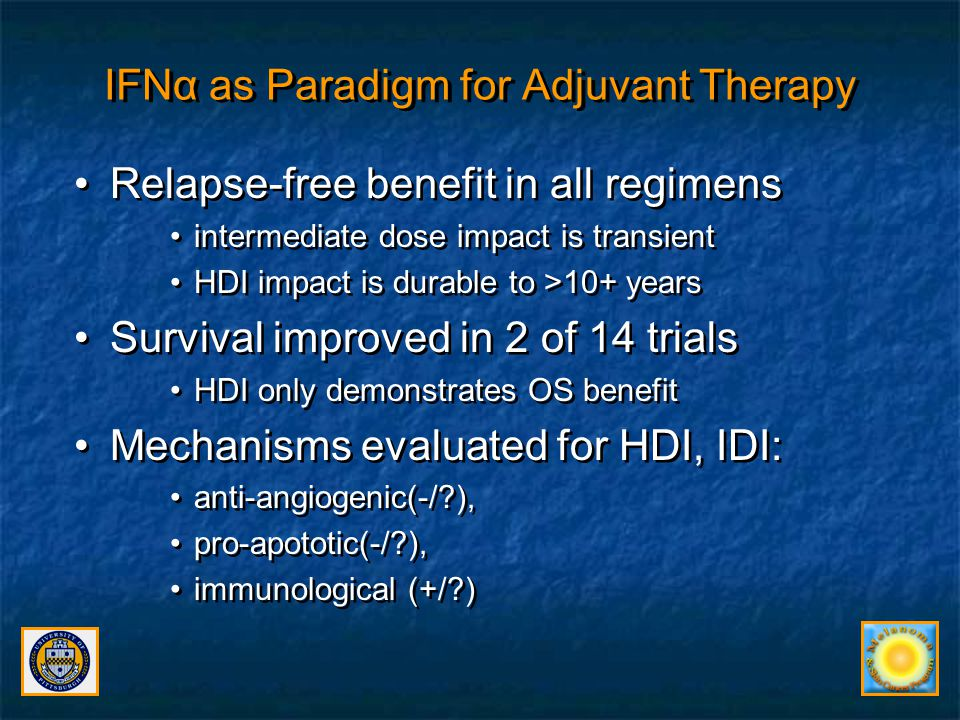 IFNα as Paradigm for Adjuvant Therapy