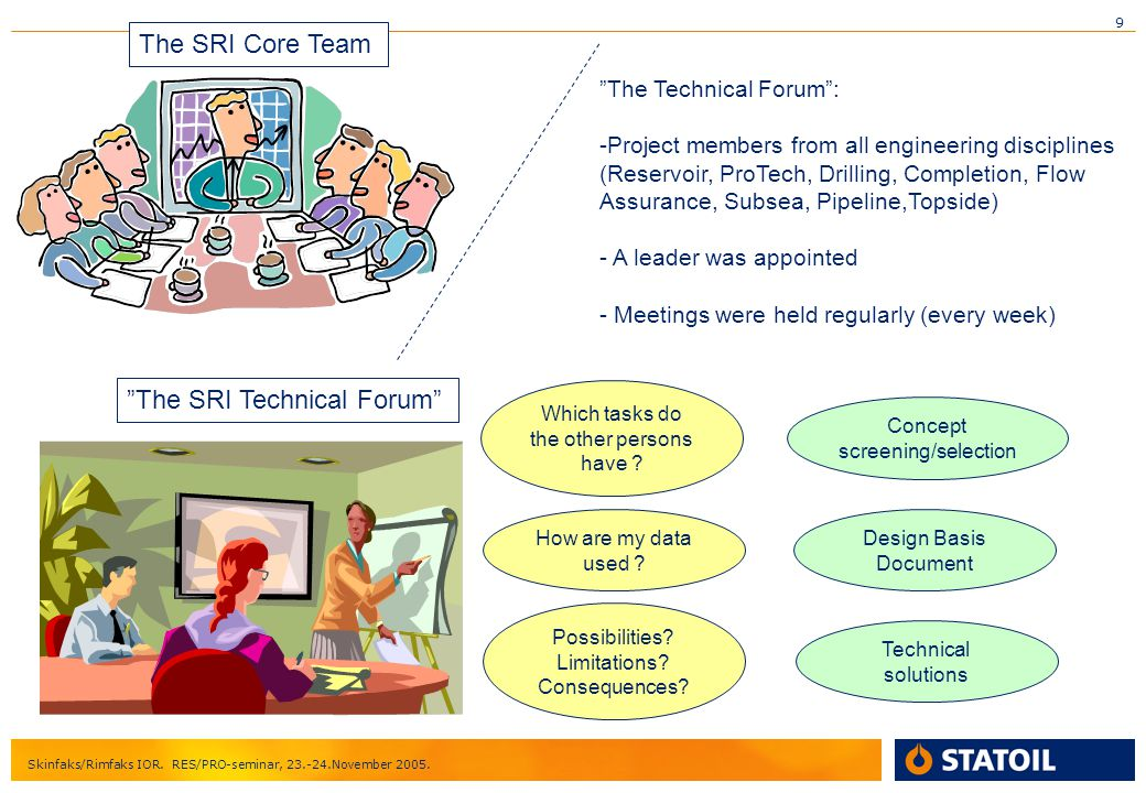 The SRI Technical Forum