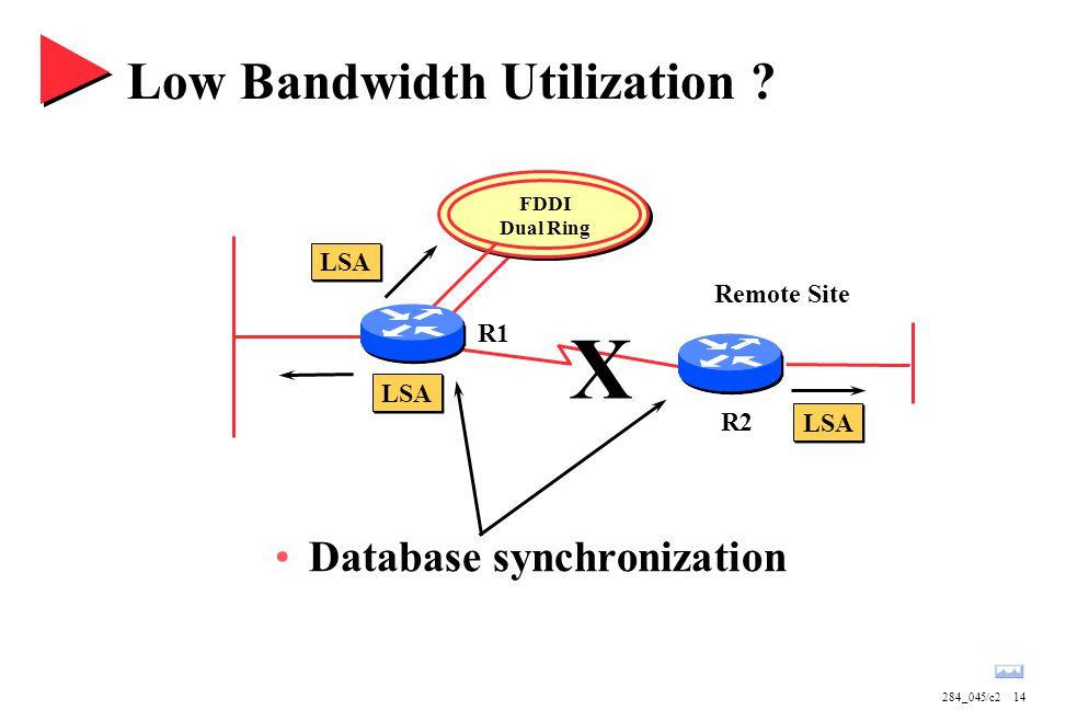 Low Bandwidth Utilization