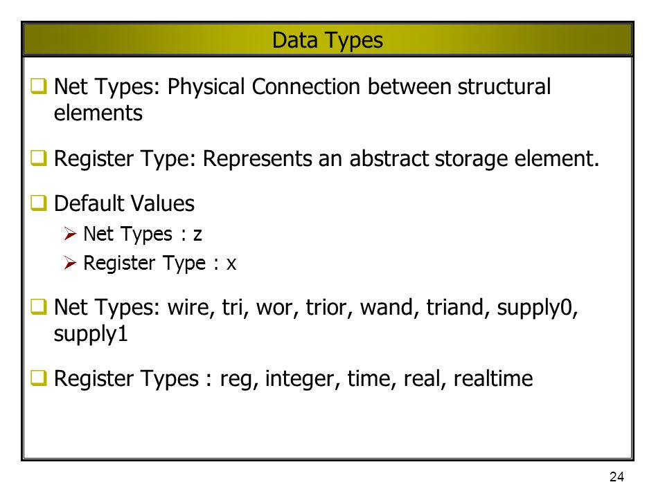 Net Types: Physical Connection between structural elements