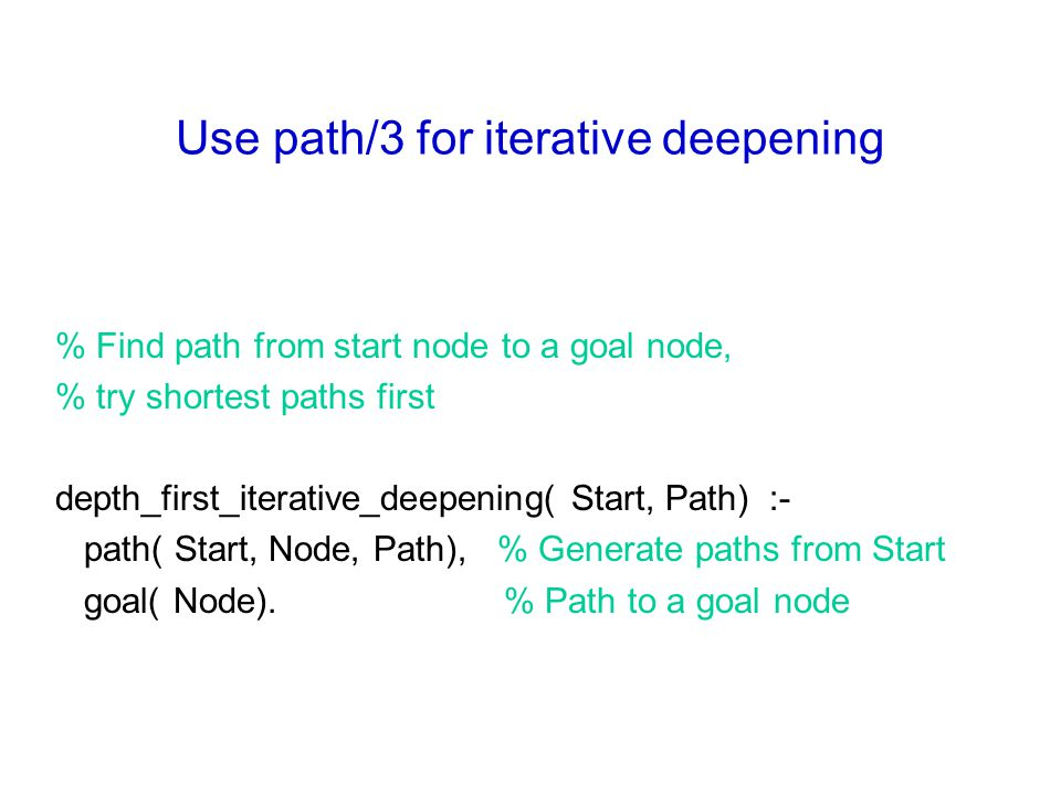 Use path/3 for iterative deepening