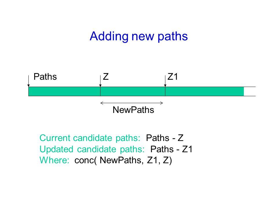 Adding new paths Paths Z Z1 NewPaths