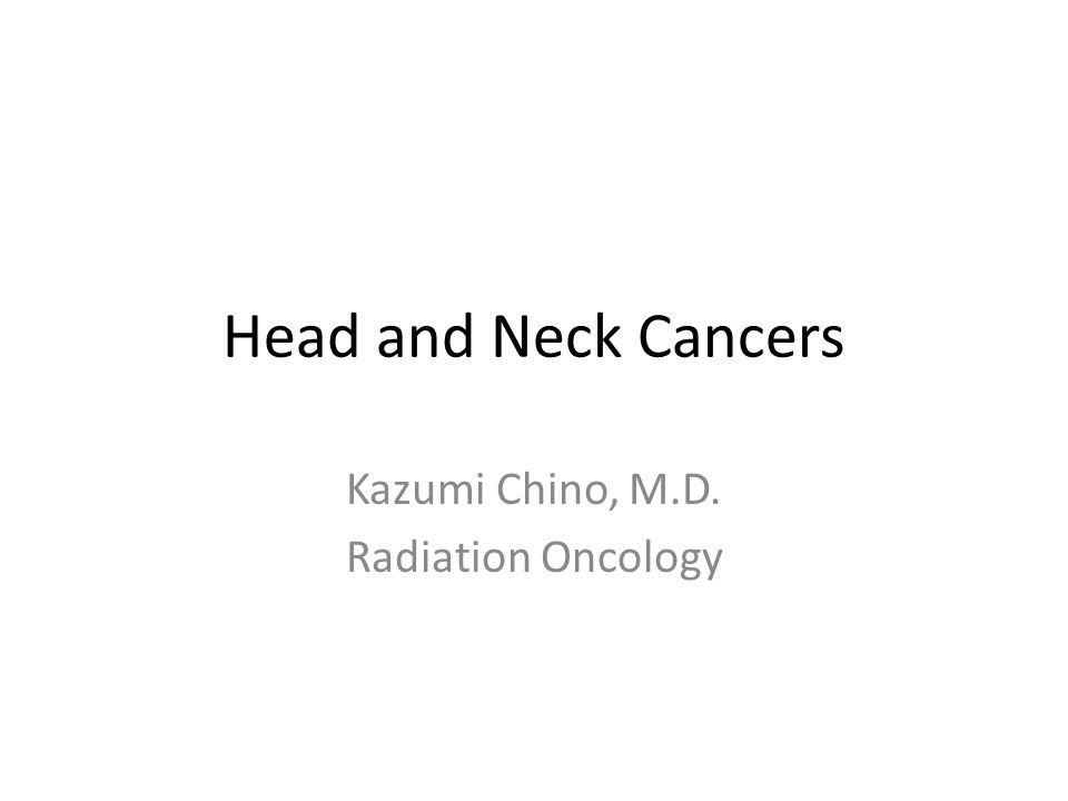 Kazumi Chino, M.D. Radiation Oncology