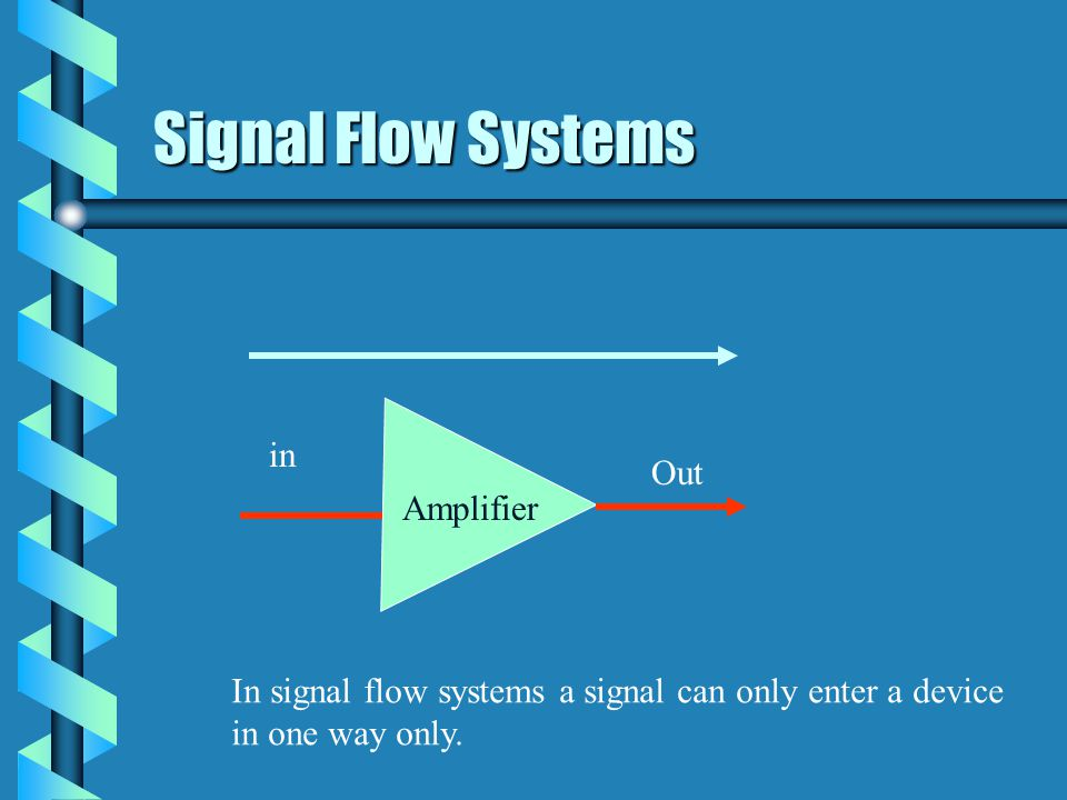 Signal Flow Systems in Out Amplifier