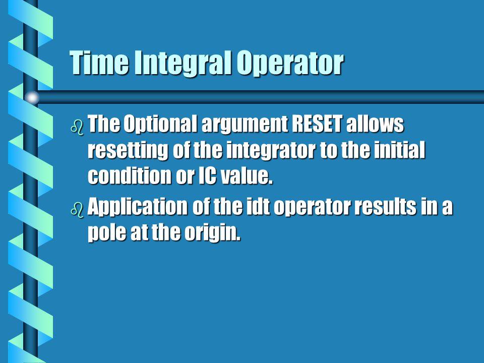 Time Integral Operator