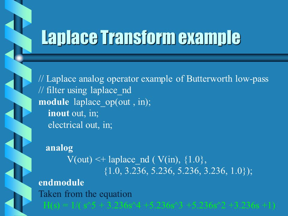 Laplace Transform example
