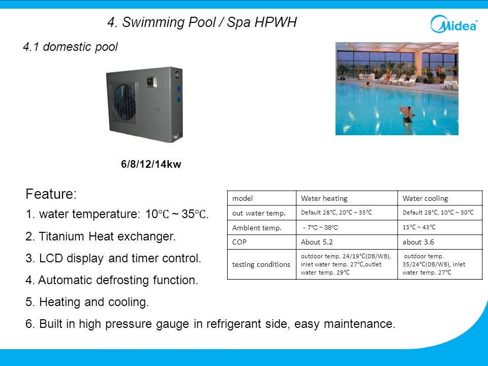4. Swimming Pool / Spa HPWH