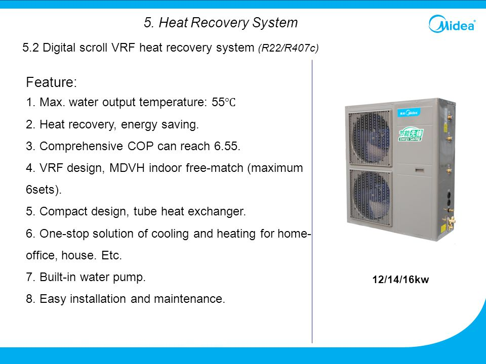 Feature: 5. Heat Recovery System