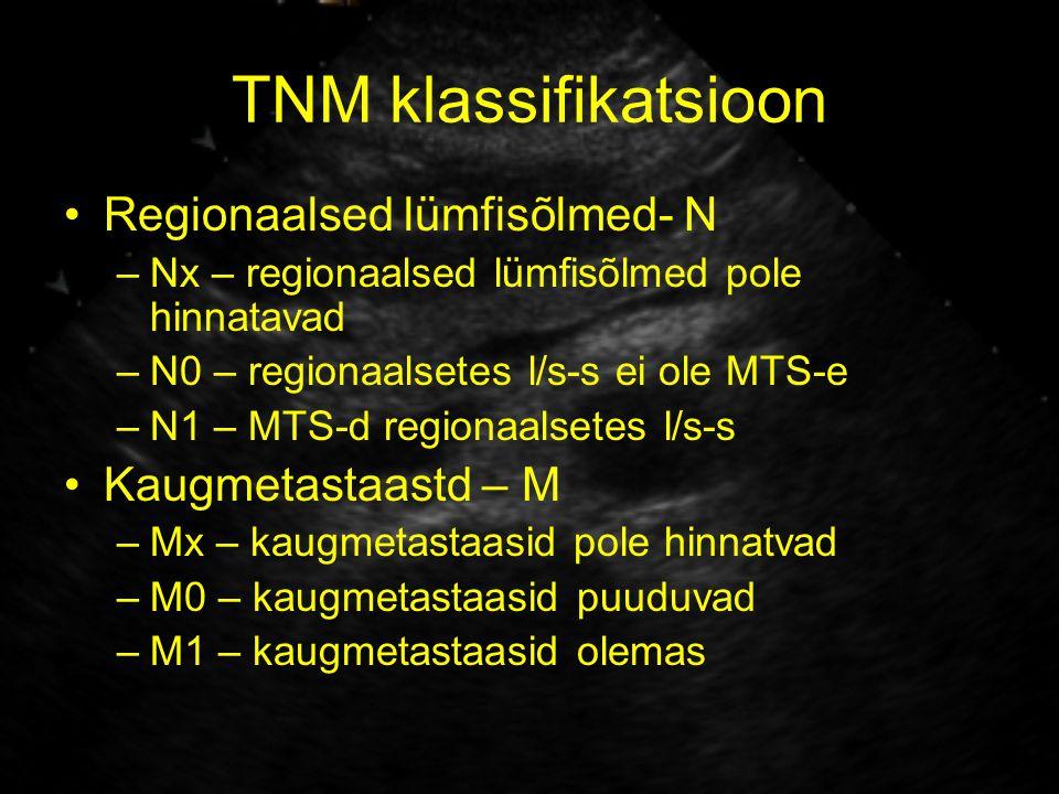 TNM klassifikatsioon Regionaalsed lümfisõlmed- N Kaugmetastaastd – M