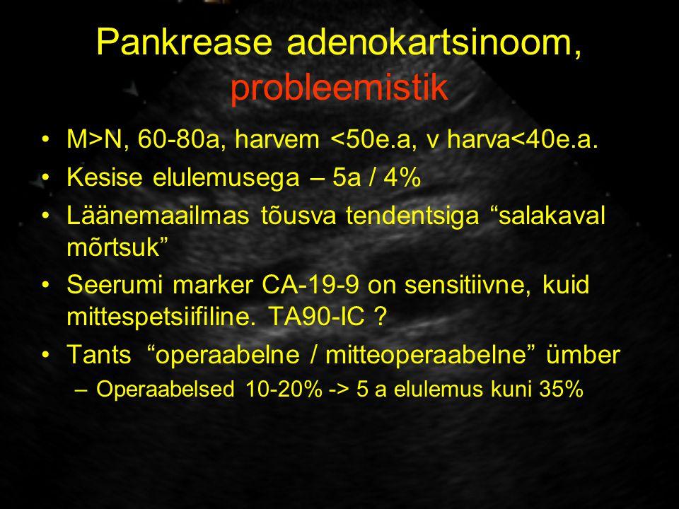 Pankrease adenokartsinoom, probleemistik