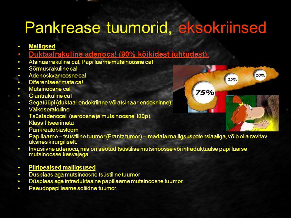 Pankrease tuumorid, eksokriinsed