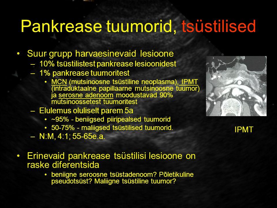 Pankrease tuumorid, tsüstilised