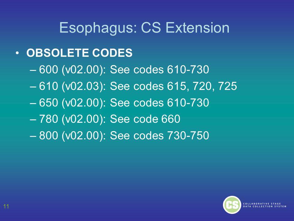 Esophagus: CS Extension
