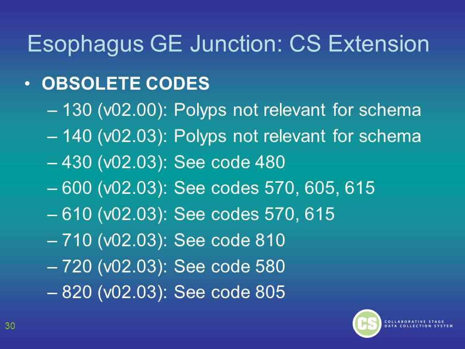 Esophagus GE Junction: CS Extension