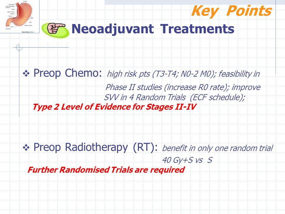 Key Points Neoadjuvant Treatments