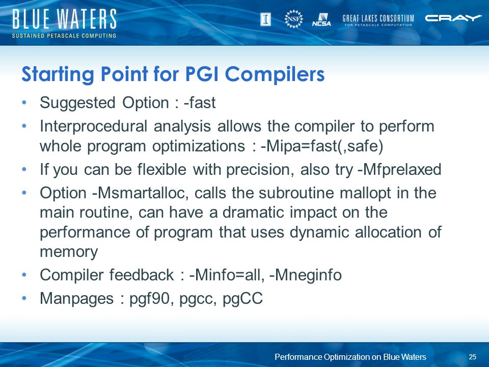 Starting Point for PGI Compilers