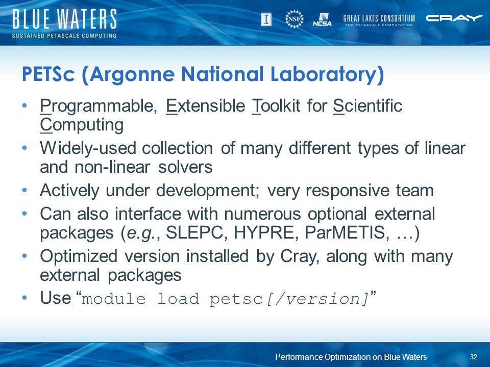 PETSc (Argonne National Laboratory)