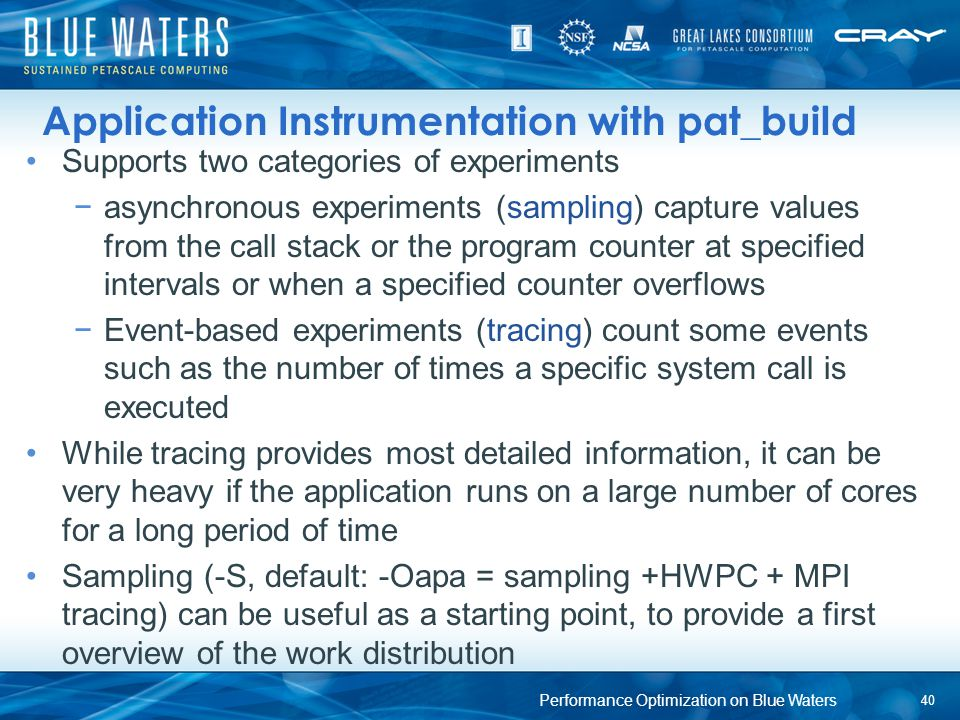 Application Instrumentation with pat_build