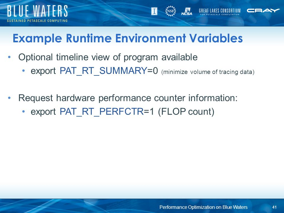 Example Runtime Environment Variables