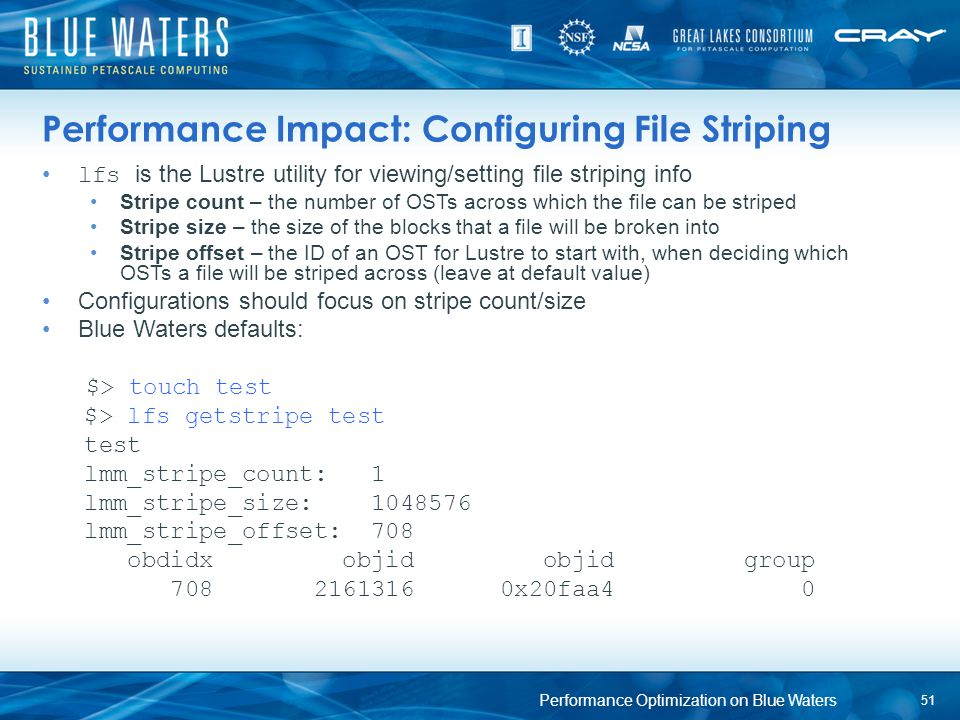 Performance Impact: Configuring File Striping