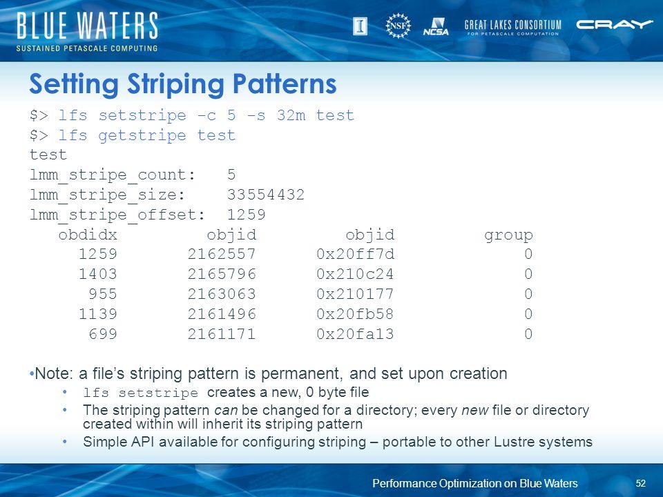 Setting Striping Patterns