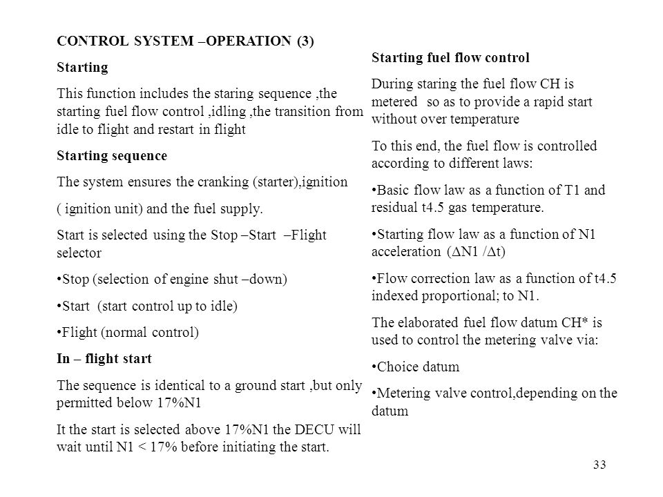 CONTROL SYSTEM –OPERATION (3)