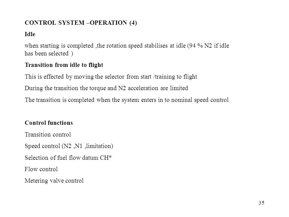 CONTROL SYSTEM –OPERATION (4)